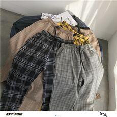 Privathinker Harajuku Plaid Pants For Women Trousers 2020 Streetwear Woman Harem Pants Autumn Ladies Causal Pants Plus Size