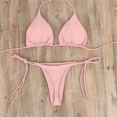Women's Swimming Suit Sexy Bikini Swimsuit 2020 Swimwear Women Bathing Suits Top Ruffled With High Waisted Bottom Bikini Set