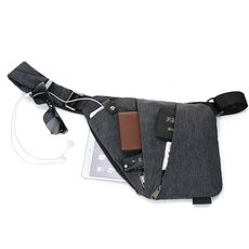 Brand Men Travel Business Fino Bag Burglarproof Shoulder Bag Holster Anti Theft Security Strap Digital Storage Crossbody Bags