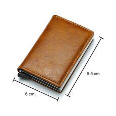 DIENQI Rfid Card Holder Men Wallets Money Bag Male Vintage Black Short Purse 2020 Small Leather Slim Wallets Mini Wallets Thin