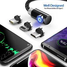 INIU 2m Magnetic Cable Micro USB Type C Charger For Android Phones Fast Charging Magnet Charge Wire Cord For iPhone11 Pro XS Max