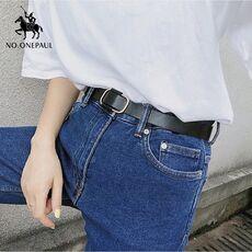NO.ONEPAUL New fashion designer design ladies luxury brand belt authentic leather ladies trend retro punk student youth belts