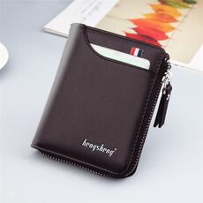 New Men's Genuine Leather Short Wallet Fashion Luxury Brand Coin Purse Driver's License Bag Purse For Men card Mini Wallet