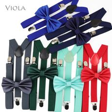 Nice Suspenders Bowtie Sets Mens Women Boys Girls Baby Kids Party Wedding Y-Back Shirt Braces Butterfly Belt Bow Tie Pants Jeans