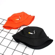 2020 Cigarette Embroidery Bucket Hat Men Women Hip Hop Fishing Cap Adult Panama Bob Hat Summer Lovers Flat Hat Cotton NO CHILL