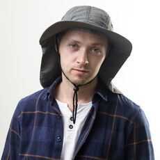 Autumn Sun Hat Men Women Bucket Hat with Neck Flap Outdoor UV Protection Large Wide Brim Hiking Fishing Mesh Breathable Cap