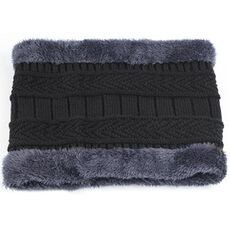Coral Fleece Winter hat Beanies Men's Hat Scarf Warm Breathable Wool Knitted Hat For Boys Letter Double Layers Cap gorro