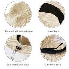 FURTALK Panama Hat Summer Sun Hats for Women Man Beach Straw Hat for Men UV Protection Cap chapeau femme 2020