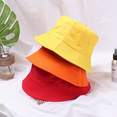 HOOH Summer Foldable Bucket Hat Unisex Women Outdoor Sunscreen Cotton Fishing Hunting Cap Men Basin Chapeau Sun Prevent Hats