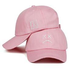 Lil Peep Dad Hat Embroidery 100% Cotton Baseball Cap Sad face Hat xxxtentacion Hip Hop Cap Golf Love lil.peep Snapback Women Men