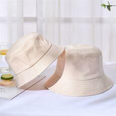 New Unisex Cotton Bucket Hats Women Summer Sunscreen Panama Hat Men Pure Color Sunbonnet Fedoras Outdoor Fisherman Hat Beach Cap