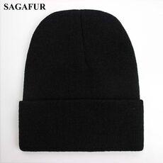 Solid Unisex Beanie Autumn Winter Wool Blends Soft Warm Knitted Cap Men Women SkullCap Hats Gorro Ski Caps 24 Colors Beanies
