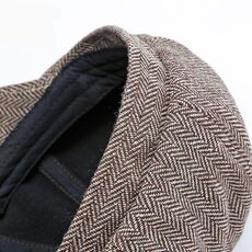 Wuaumx Unisex Autumn Winter Newsboy Caps Men And Women Warm Tweed Octagonal Hat For Male Detective Hats Retro Flat Caps chapeau