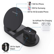 AICNLY 3 in 1 Wireless Charger Stand Fast QI Wireless Charger iPhone N30 Wireless Phone Charger for iPhone iWatch Airpods Pro