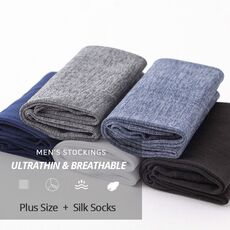HSS Brand 10Pairs Men Summer Socks High Quality Business Casual Thin Socks Breathable Bamboo Male Cool Socks Ultra-thin Meias