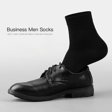HSS Brand Men's Cotton Socks New Style Black Business Men Socks Soft Breathable Summer Winter for Male Socks Plus Size (6.5-14)