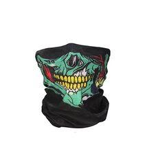 Men Scarf Halloween Ride bandana Women Headscarf Ski Skull Half Face Mask Ghost Scarf Neck Hiking Scarves Cuello Balaclava Masks