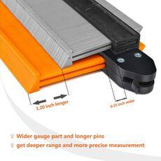 New Type Contour Gauge Plastic Profile Copy Contour Duplicator Gauges Standard Wood Marking Tool Tiling Laminate Tiles