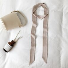 Silk thin long scarf solid color universal scarf European and American long scarf