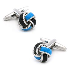 Free shipping Black Cufflinks for men fashion knot design top quality copper hotsale cufflinks whoelsale&retail