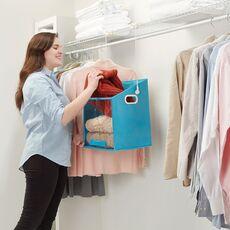 Home Bedroom Clothes Organizer Shelf Bag Closet Caddy-Retrieve Items from High Shelves Safely and Easily Storage Closet Hanger