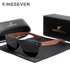 KINGSEVEN Natural Wooden Sunglasses Men Polarized Fashion Sun Glasses Original Wood Oculos de sol masculino