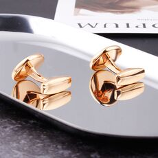 Luxury Fashion Black Round Plated Cufflinks Arm Buttons for Women Men Business Shirts Cuff links Wedding Jewelry FPJXZ31