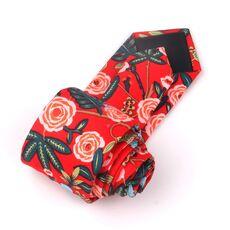 New Floral Tie For Men Women Skinny Cotton Neck Tie For Wedding Casual Mens Neckties Classic Suits Flower Print Neck Ties Cravat
