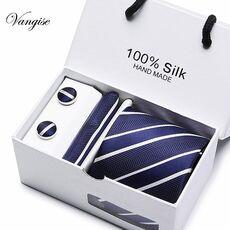 New Plaid  men ties set  Extra Long Size 145cm*8cm Necktie navy blue Paisley Silk Jacquard Woven Neck Tie Suit Wedding Party