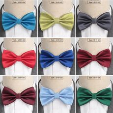 XGVOKH Men Ties Fashion Butterfly Party Wedding Bow Tie for Boys Girls Candy Solid Color Bowknot Wholesale Accessories Bowtie
