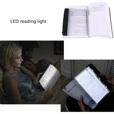 Led Book Light Clip-On LED Lamp Light Book Reading Lamp Flat Plate Portable Travel Panel Led Desk Lamp for Home Indoor Bedroom