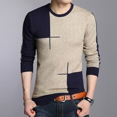 Liseaven Men Casual Pullover Sweater Fashion O Neck Knitwear Long Sleeve Male Pullovers