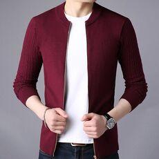 Liseaven Men's Sweater Male Jacket Solid Color Sweaters Knitwear Warm Sweatercoat Cardigans Men Clothing