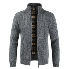 Mountainskin Autumn Cardigan Men Sweaters Thick Warm Knitted Sweater Mens Jackets Coats Male Clothing Casual Knitwear SA836