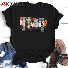 Naruto Fashion Japanese Anime T Shirt Men Sasuke Funny Cartoon T-shirt Casual Cool Streetwear Tshirt Couple Hip Hop Top Tee Male