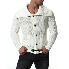 New Fashion Thick Sweaters Cardigan Coat Men Slim Fit Jumpers Knit Zipper Warm Winter Business Style Men Clothes
