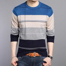 Spring Autumn Winter Pullover Men Brand Clothing jersey clothing knitwear Sweater 2019 Men Casual Striped Pull Slim fit Men