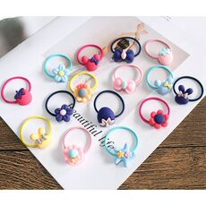 10 PCS Lovely Flower Princess Headwear Baby Headdress Girls Hair Accessories Kids Elastic Hair Bands Children Hair Ropes