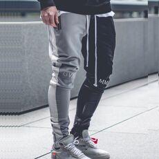 April MOMO 2020 Men Jogger Patchwork Gyms Pants Men Fitness Bodybuilding Gyms Pants Runners Clothing Sweatpants Trousers Hombre