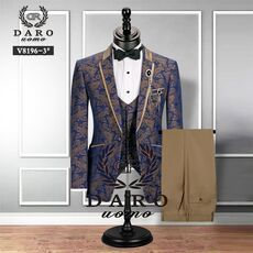 Men Suit Bridegroom Wedding Tuxedo New Style Blazer Pattern Jacket Vest Pant 3 Piece Slim Fit Black Gold White Royalblue Custom