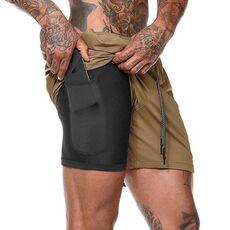 Summer 2020 running shorts men 2 in 1 sports jogging fitness shorts Men's Gym training Quick-drying sports shorts male short