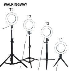 WalkingWay 6 inch LED Ring Light Makeup Lamp USB Portable Selfie Lamp Tripod Stand Photographic Lighting for Youtube video live