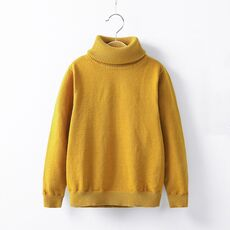 2-12T Toddler Kid Boy Girl Clothes Autumn Winter Warm Pullover Top long sleeve turtleneck Knitted Sweater Casual Plain Knitwear
