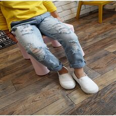 2020 New fashion broken hole kids jeans for girls Boys Spring Summer jeans for girls Casual Loose Ripped Jeans children  jeans