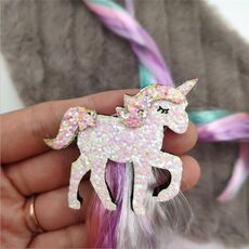 Cute Girls Hairpin Child Twist Hair Clip Simple Barrette Unicorn Cartoon Hair Rope Accessories Kids Wig Rope Hair Head Wear