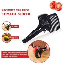 Myvit Tomato Slicer Multifunctional Handheld Tomato Round Slicer Fruit Vegetable Cutter Stand Lemon Onion Shreadders Slicer