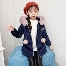 Winter Girls Fur Coat Fahion Thick Warm Baby Girl Faux Fur Jackets Coats Parka Kids Outerwear Clothes Kids Coat Age 3-12 Years