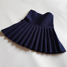 2019 Baby Toddler Children's Clothing School Girls Knit Skirt Bottoming Princess Pleated Skirts For Kids Children Clothes JW7082