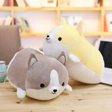 30/45/60cm Cute Corgi Dog Plush Toy Stuffed Soft Animal Cartoon Pillow Lovely Christmas Gift for Kids Kawaii Valentine Present