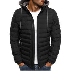 Autumn Winter Casual Parkas Men Fashion Hooded Male Parka Mens Solid Warm Jackets Coats Zipper Hooded Jackets Male 2019